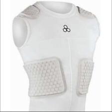 MCDAVID Mens 787T Hexpad 5 Piece Football Sleeveless Shirt | White | Large | NWT