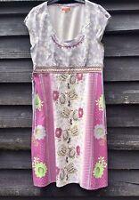 WHITE STUFF Multicoloured Floral Linen Blend Dress, Side Ties UK14 EU42