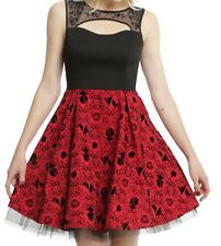 GOTHIC DISNEY APPLES AND LACE ROSES SNOW WHITE PRINCESS CORSET DRESS SZ MD PROM