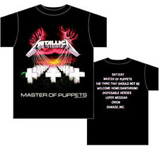 METALLICA- MASTER OF PUPPETS Official T Shirt Sizes L XXL Black Mens US Import