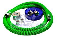 "3"" Epdm Fcam x Mp Suction Hose Camlock Kit w/100' Blue Discharge Hose (Fs)"