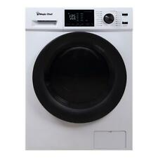 Magic Chef 2.7 Cu Ft Front Load Washer And Dryer Combination, White (Used)