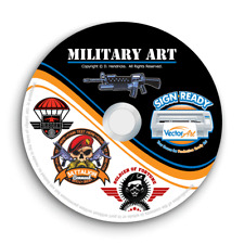 MILITARY ARMY NAVY CLIPART -VECTOR CLIP ART + T-SHIRT DESIGN TEMPLATES+EMBLEM CD