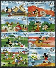 Grenada Grenadinen 1988 Disney SYDPEX 1051-1058 ** MNH