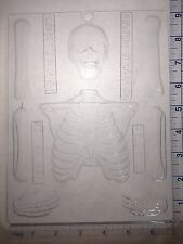 SKELETON TOP BONES CLEAR PLASTIC CHOCOLATE CANDY MOLD H102