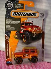 2018 Matchbox #119 DUNE DOG☆red/orange;tan; OUTFITTERS☆65th☆MBX OFF ROAD ☆case G