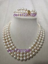 baroque 9-10MM AAA SOUTH SEA White Bracelet PEARL NECKLACE SET