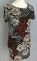Star By Julien Macdonald Multi  Floral Print Open Short Sleeve Dress Size 10