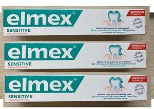 3 x ELMEX, Sensitive Toothpaste, 75ml