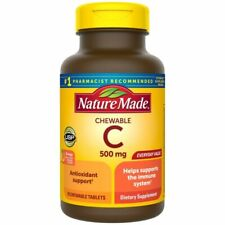 Nature Made Chewable Vitamin C 500 mg Tablets, 70 Count | EXP 03/2022