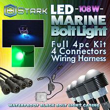 108W LED Boat Plug Light Drain Marine Underwater Changing RGB Phone App - 4Pcs