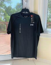 Under Armour Heat Gear Loose Fit Black Short Sleeve Shirt Men's M Nwt Great!