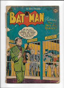 "BATMAN #71 [1952 PR] ""THE JAIL FOR HEROES!"""