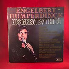 ENGELBERT HUMPERDINCK His Greatest Hits 1971 UK  Vinyl LP EXCELLENT CONDITION B