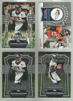Denver Broncos 4 card 2017 Panini insert & parallel lot-all different