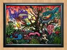 Psychedelic Trippy Funky Mushrooms Audio Video Visualization A4 Photo Print 5