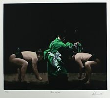 "CHARLES WILLMOTT ""Shikiri No Kata"" SIGNED LIMITED sumo SIZE:59cm x 68cm NEW RARE"