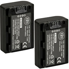 BM 2X NP-FH50 Batteries for Sony Cybershot DSC-HX1 HX100V DSC-HX200V HDR-TG5V
