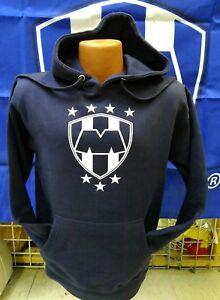 Club Monterrey Rayados NAVY Hoodie Sweatshirt Mens