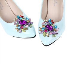 Crystal Boots Shoe Buckle Multicolor Flower High-heeled Shoe Clips Accessories