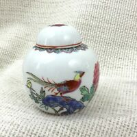 Chinese Porcelain Ginger Jar Hand Painted Famille Verte Bird of Paradise