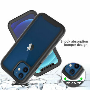 Full Body Clear Hybrid Shockproof Case Cover For iPhone 12 11 Pro Max SE 7 8 XR