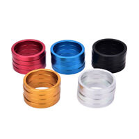 4pcs 5mm Bike Fork Washer Stem Spacers Bicycle Headset Washer Raise Handlebar ~!