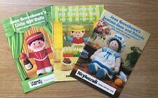 Jean Greenhowe Village Men Jemima Jane  Little Gift Dolls 3 x Knitting booklets