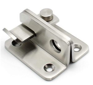 Double Gate Flip Latch Hasp Safety Door Lock Stainless Steel Gate Latches 3mm