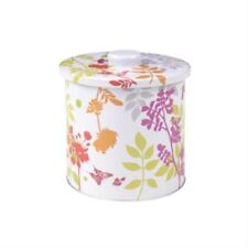 Virojanglor Floral Metal Cookie Biscuit Tin Jar Box 155mm Diameter x 170mm High