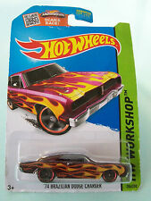 Hot Wheels 2015 HW Workshop - '74 BRAZILIAN DODGE CHARGER #206/250 New In Packet