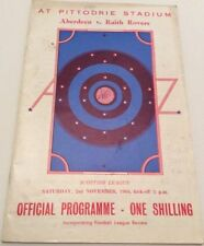 Past Domestic Leagues Teams A-B Aberdeen Football Programmes