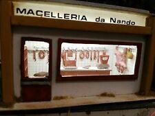 HO Macelleria italiana con arredi interni montata e illuminata scala 1:87