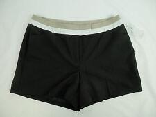 Worthington Modern Fit Dress Shorts Womens Size 12 black tan white