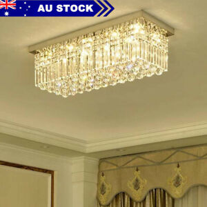 Modern  Crystal Ceiling Light 6 Lights Chandelier Bed  Living Room Lights