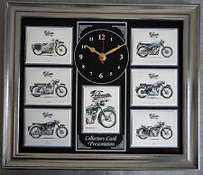 Velocette motorcyles superbe collector cartes horloge murale