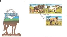 NZFD841) NZ 1984 Health Issue - Horses - Clydesdale, Shetland, Thoroughbred FDC