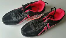 Ladies, Girls black and pink trainers sports shoe