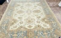 EXCEPTIONAL HAND-KNOTTED TURKISH OUSHAK TRIBAL ORNATE GHOBI NZW WOOL  9' X 12'