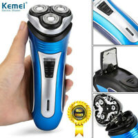 Mens Electric Shaver Rechargeable Rotary Razor 3D Triple Trimmer Floating Heads