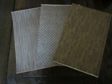 "Miniature Dollhouse Wallpaper 1/2"" scale Assorted wood look flooring"