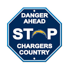 """San Diego Chargers Country Danger Ahead STOP Sign 12"""" x 12"""" Octagon Made in USA"""
