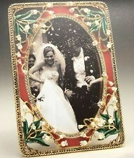 Imperial Court Lilies Rectangular Picture Frame