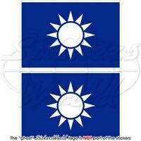 TAIWAN Naval Jack RoC Taiwanese MARINE Flagge, 100mm Vinyl Aufkleber x2