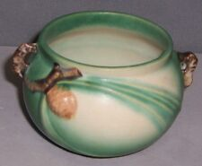 Vintage Roseville Art Pottery Small Green Pinecone Jardiniere #632-3