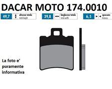 174.0010 PLAQUETTE DE FREIN RACE POLINI GILERA GLACE 50 - RUNNER 50