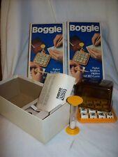 2 Vintage 1976 Boggle Hidden Word Games No.104 by Parker Brothers