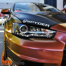 Fits 08-15 Lancer Evolution CZ4A EVO X Black Halo DRL LED Projector Headlights