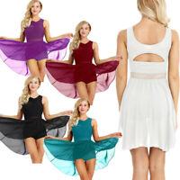 Womens Adult Ballet Dress Gymnastics Skirt Dance Dress Leotard Dancewear Costume