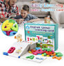 Wooden Letter Cognitive Card English Learning Children Early Puzzle Toys
